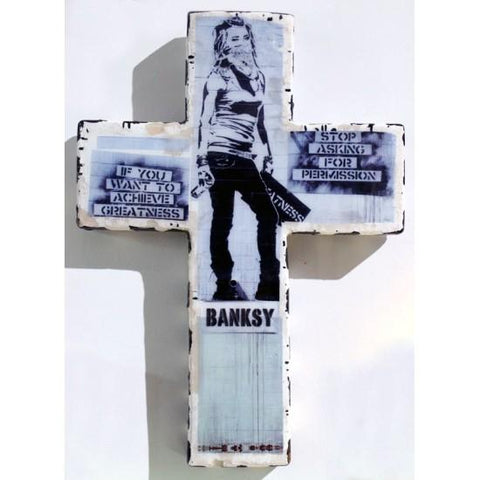 Plaster Cross Banksy Greatness