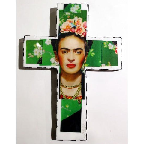 Plaster Cross Frida Kahlo