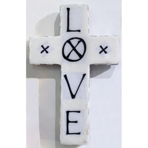 Plaster Cross LOVE