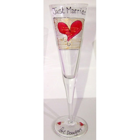 Just Married Champagne Flute
