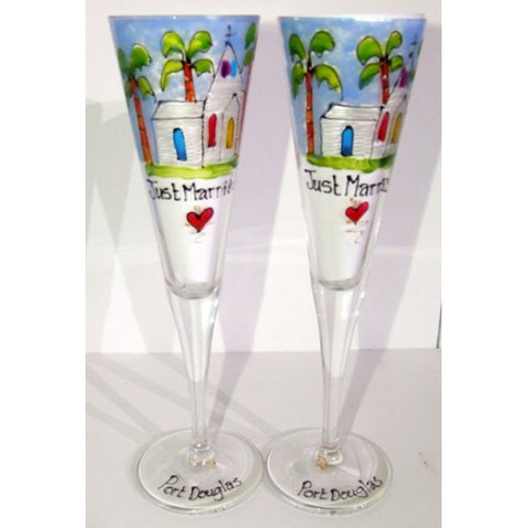 St. Marys by the Sea Champagne Flute