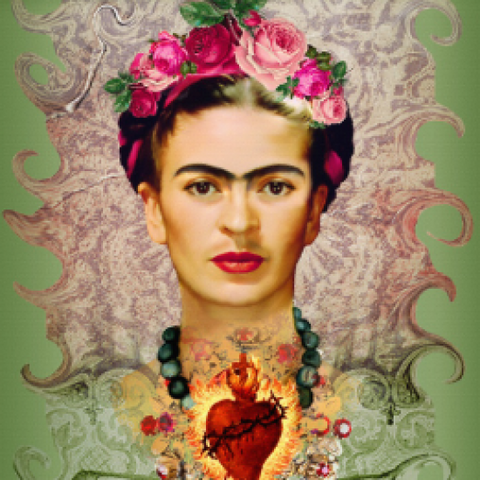 Resin Coaster - Frida Sacred Heart