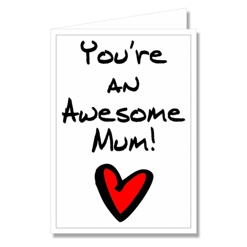 Greeting Card - Awesome Mum