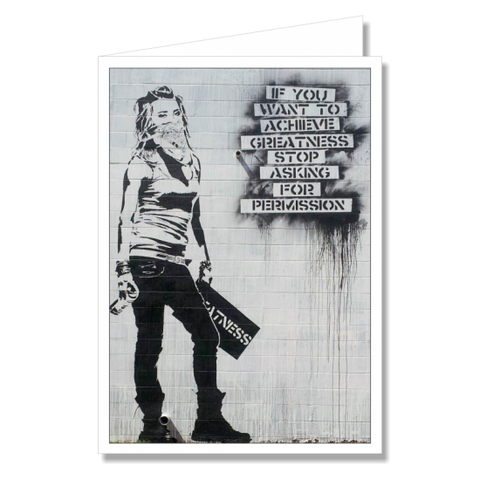 Greeting Card - Banksy Greatness