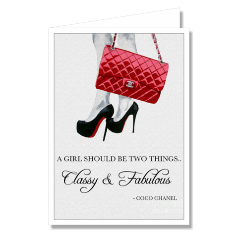 Greeting Card - Classy Fabulous Chanel