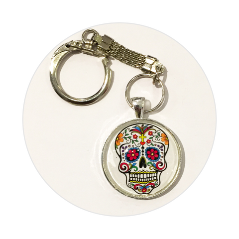 Key Ring - Candy Skull