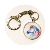 Key Ring - Unicorn Skull