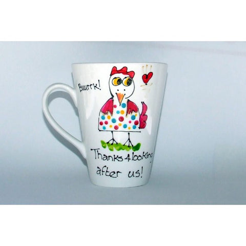 Thanks Chicken Colourful Spots Mug
