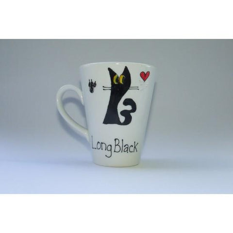 Long Black Cat Mug