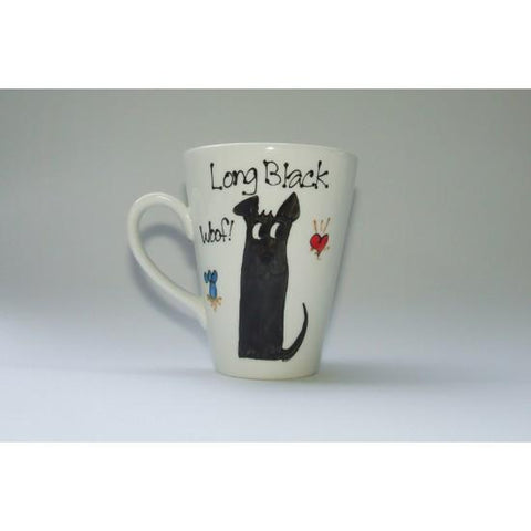 Long Black Dog Mug