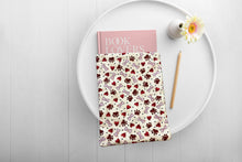 Load image into Gallery viewer, Dog Bones Hearts and Paws Beige Padded Book Sleeve | BookGoodies | Book Pocket | Protective Book Bag | Book Pouch | Bookish Nerd Gift