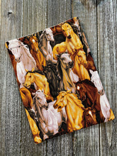 Load image into Gallery viewer, All Over Horses Padded Book Sleeve | BookGoodies | Book Pocket | Protective Book Bag | Book Pouch | Horse Lover Bookish Nerd Gift