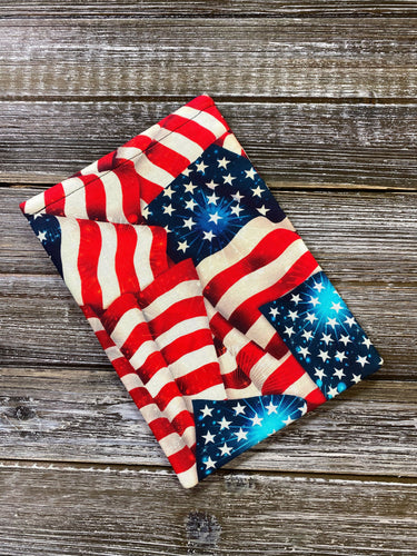 Vintage American Flags Padded Book Sleeve | BookGoodies | Book Pocket | Protective Book Bag | Book Pouch | Bookish Nerd Gift