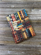 Load image into Gallery viewer, Classic Novels on a Shelf Cotton Padded Book Sleeve | BookGoodies | Book Pocket | Protective Book Bag | Book Pouch | Bookish Nerd Gift