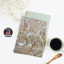 Load image into Gallery viewer, Sand Brown Tan Swirl Padded Book Sleeve | BookGoodies | Book Pocket | Protective Book Bag | Book Pouch | Bookish Nerd  Gift