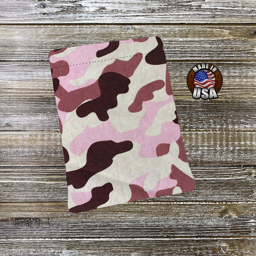 Camo Pink Padded Book Sleeve | BookGoodies | Book Pocket | Protective Book Bag | Book Pouch | Bookish Nerd Gift