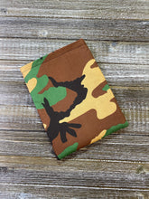 Load image into Gallery viewer, Camo Green Brown Tan Padded Book Sleeve | BookGoodies | Book Pocket | Protective Book Bag | Book Pouch | Bookish Nerd Gift