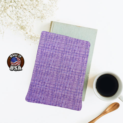 Purple Textured Coco Padded Book Sleeve | BookGoodies | Book Pocket | Protective Book Bag | Book Pouch | Bookish Nerd Gift