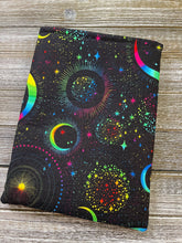 Load image into Gallery viewer, Galaxy Celestial Moons Padded Book Sleeve | Book Pocket | Protective Book Bag | Book Pouch | Bookish Nerd