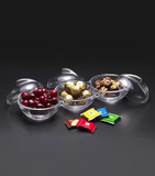 Acrylic Candy Bowls Set silver with cover