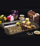 Acrylic Rectangular Serving Tray Golden, size: 65x25 cm