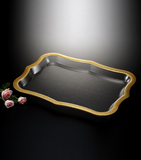 Acrylic. Traditional Tray Golden Touch, available in different sizes