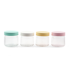 Vague acrylic ripple jar small with cover, size 12 CM available in 4 different colors