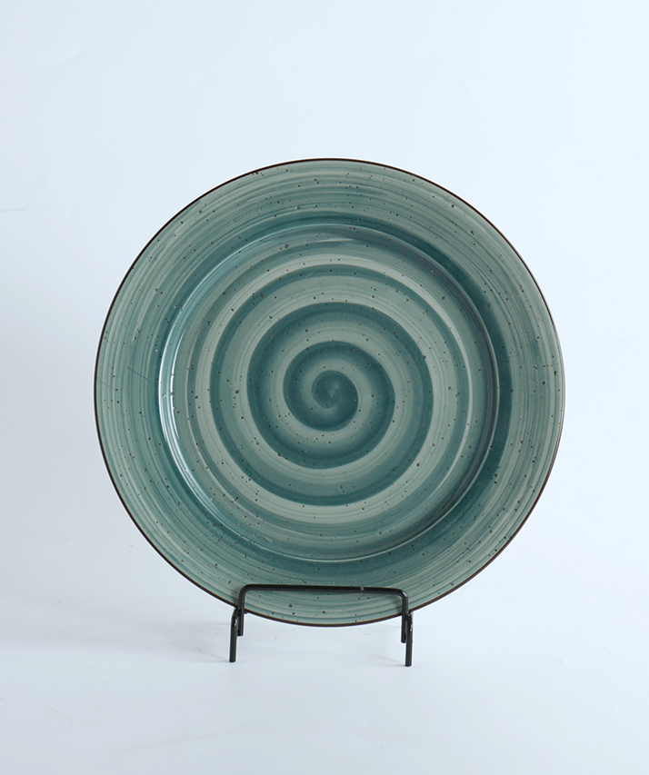 porcelain green plate