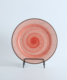 porcelain red plate