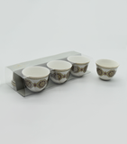 Porceletta Ivory Cawa Cup, Set of 6 Pcs