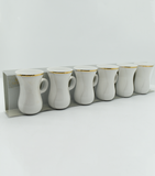 Porceletta Ivory Belly Tea Cup, Set of 6 Pcs