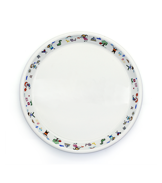 Porcelain Kids Ivory round plate 23cm
