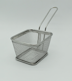 Stainless Steel rectangular fry basket, size: 10.5*8.5*6.5 cm