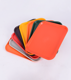 Non Slip Fast Food Trays Plastic 45 x 35 cm, available in different colors