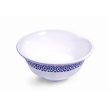 "Vague Melamine Scallop Bowl 8"" Blue Line"