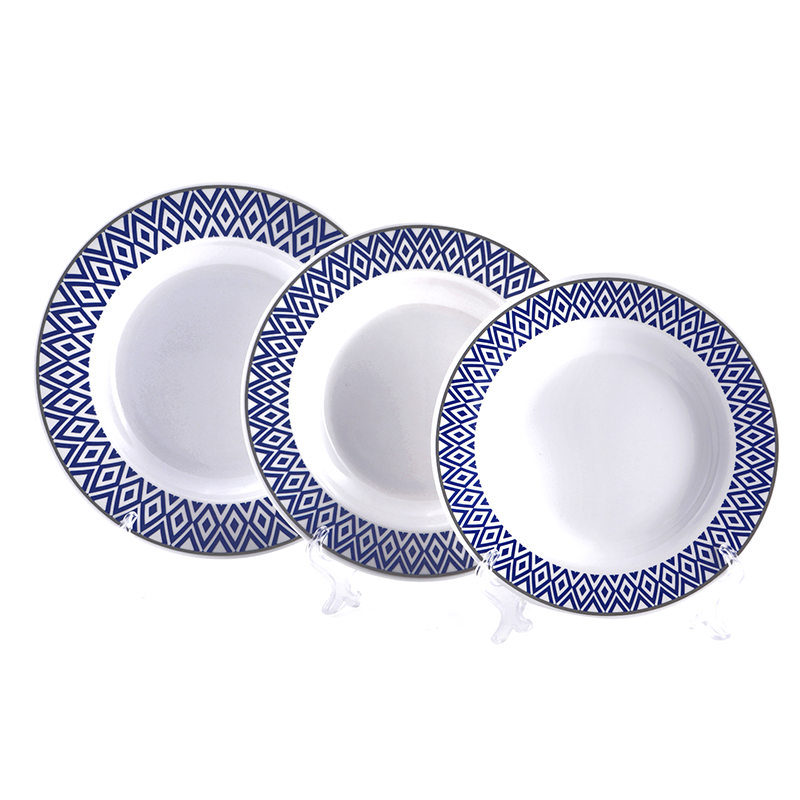 Vague Melamine Soup Plate Blue Line, available in different sizes