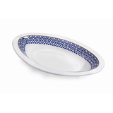 "Vague Melamine Peanut Bowl 8.5"" Blue Line"