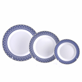 Vague Melamine Round Plate Blue Line, available in different sizes