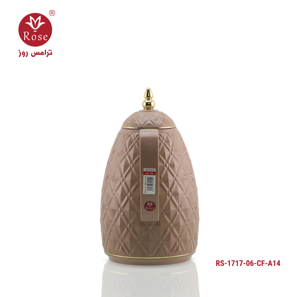 Rose Vacuum Flask 0.65 L, Brown color for coffee (1717)