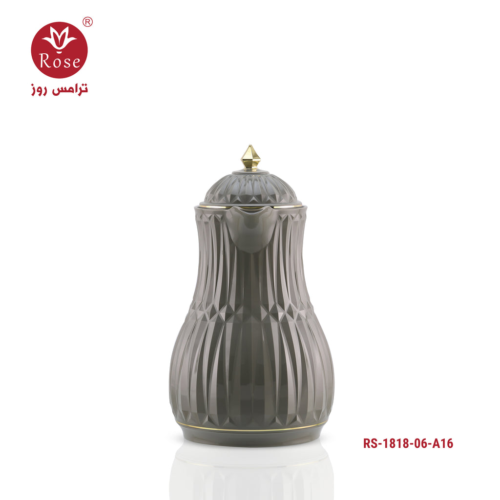 Rose Flask 0.6L, Grey color for tea