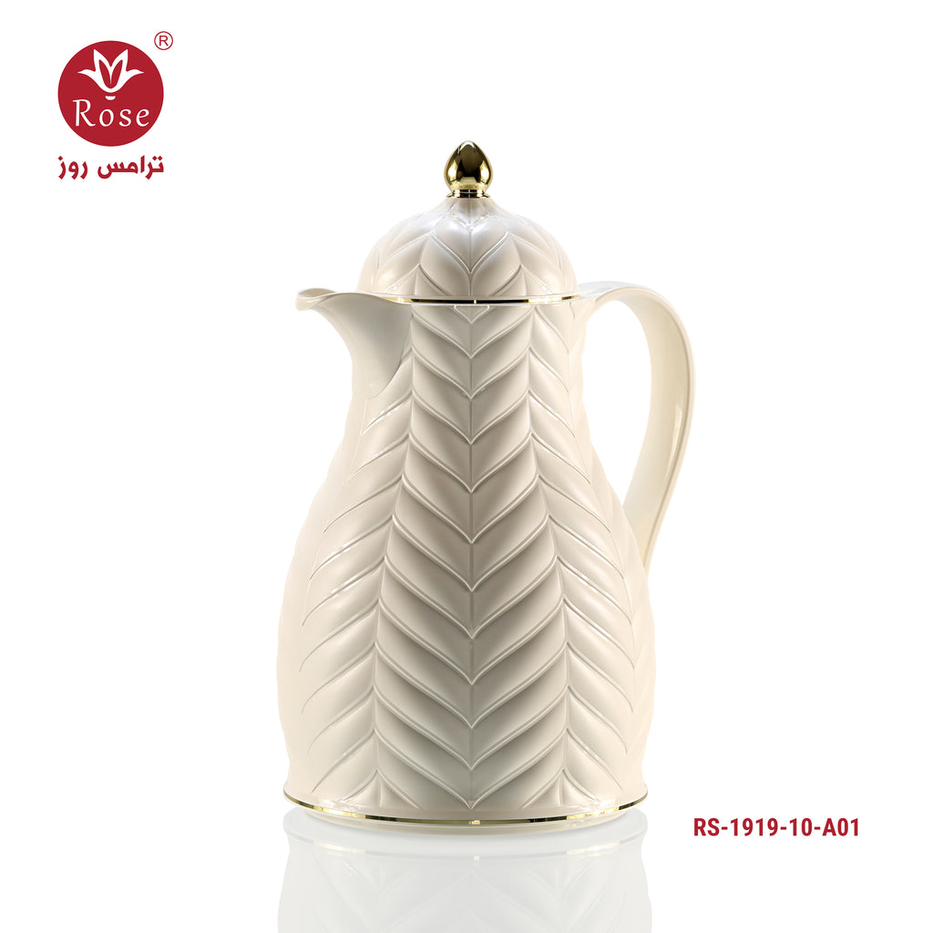 Rose Vacuum Flask 1L, White color for tea (1919)