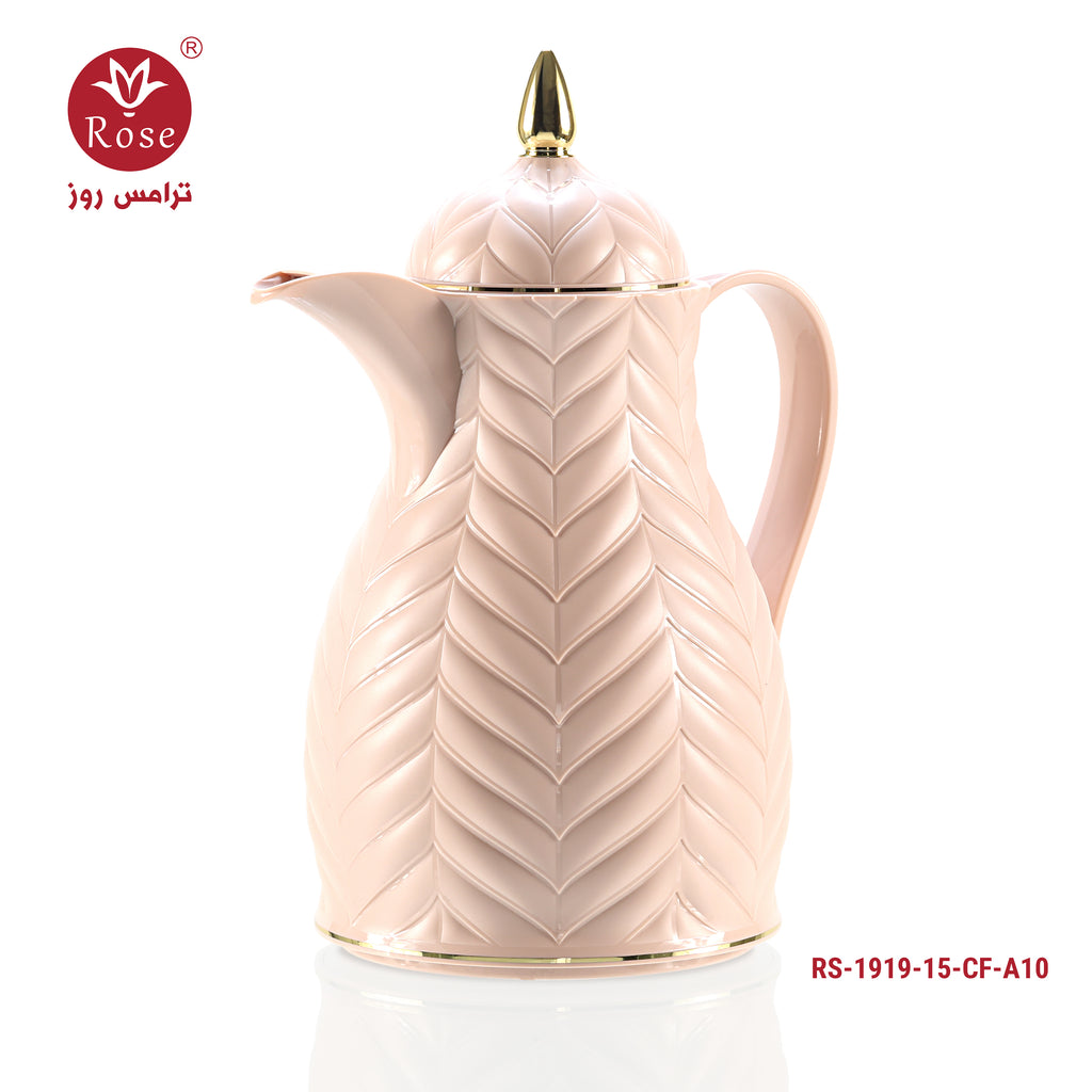Rose Vacuum Flask 1.5L, Pink color for coffee (1919)