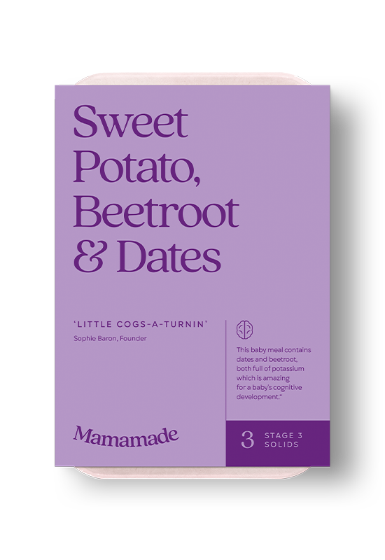 Mamamade Sweet Potato, Beetroot & Dates Frozen Meal for Babies and Toddlers