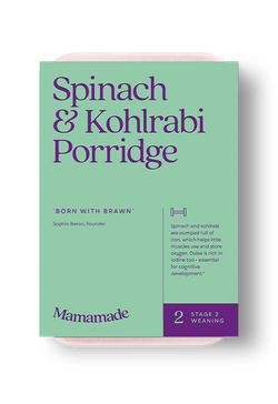 Mamamade Spinach & Kohlrabi Porridge For Babies and Toddlers