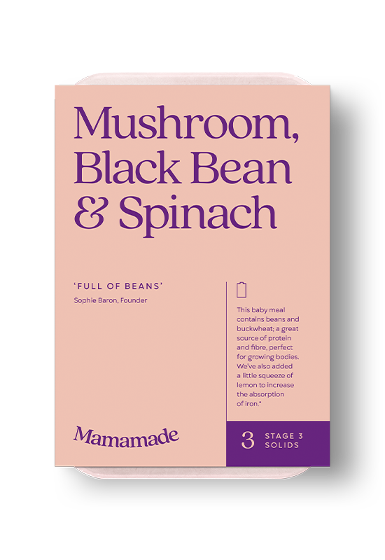 Mamamade Mushroom, Black Bean & Spinach Frozen Meal For Babies and Toddlers