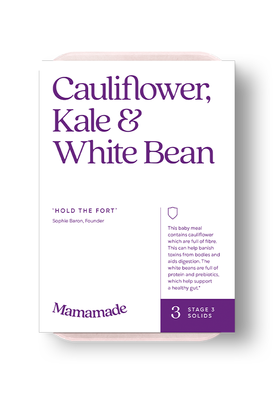 Mamamade Cauliflower, Kale & White Bean Frozen Meal For Babies and Toddlers