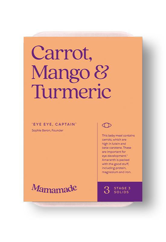 Mamamade Carrot, Mango & Turmeric Frozen Meal For Babies and Toddlers