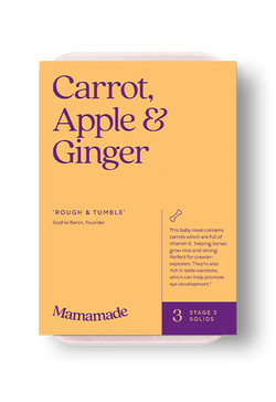 Mamamade Carrot, Apple & Ginger Organic Baby Food