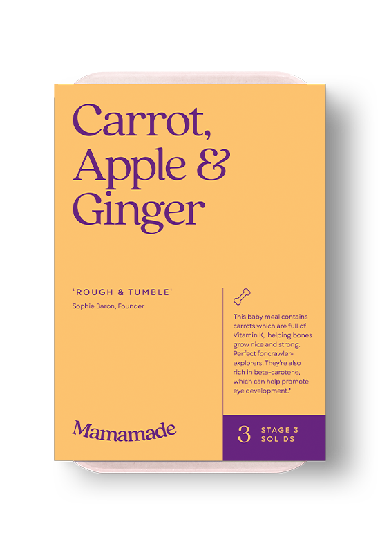 Mamamade Carrot, Apple & Ginger Frozen Meal For Babies and Toddlers