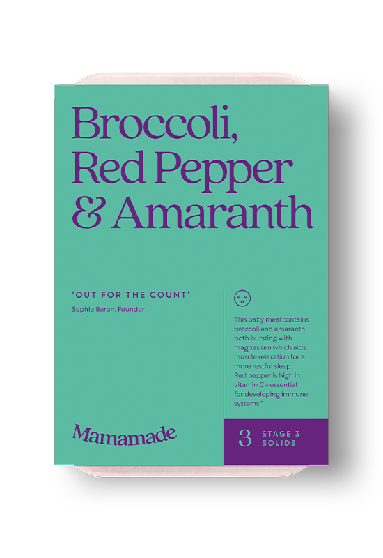 Mamamade Broccoli, Red Pepper & Amaranth Organic Baby Food